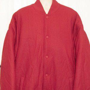 Vintage PJ Mark Red Varsity Letterman Jacket